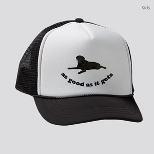 FIN-black-lab-photo Kids Trucker hat
