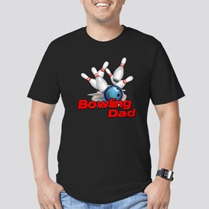 Bowling Dad Men's Fitted T-Shirt (dark)