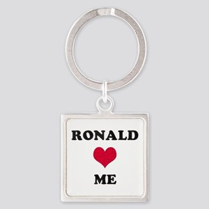 Ronald Loves Me Square Keychain