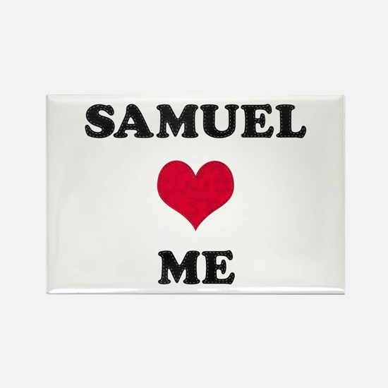 Samuel Loves Me Rectangle Magnet