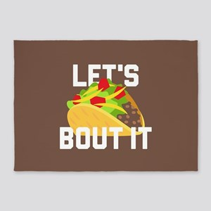 Let's Taco Bout It 5'x7'Area Rug