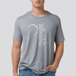 2017 Total Solar Eclipse Mens Tri-blend T-Shirt