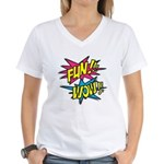 Fun Wow Women's V-Neck T-Shirt