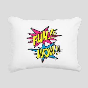 Fun Wow Rectangular Canvas Pillow