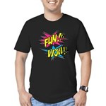 Fun Wow Men's Fitted T-Shirt (dark)