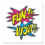 Fun Wow Square Car Magnet 3
