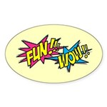 Fun Wow Sticker (Oval)