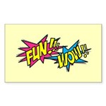 Fun Wow Sticker (Rectangle 10 pk)