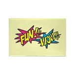 Fun Wow Rectangle Magnet (10 pack)