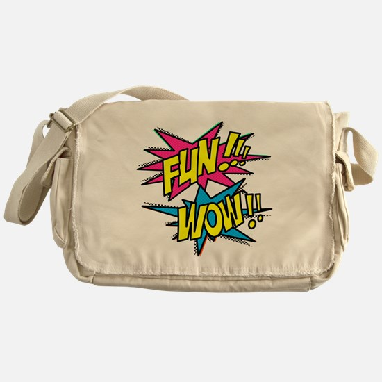 Fun Wow Messenger Bag