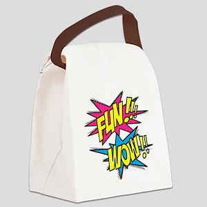 Fun Wow Canvas Lunch Bag