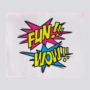 Fun Wow Throw Blanket