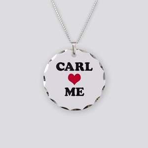 Carl Loves Me Necklace Circle Charm