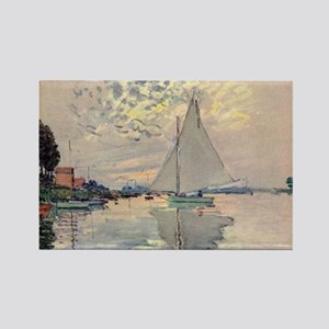 Monet Sailboat Rectangle Magnet