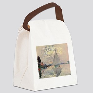 Monet Sailboat Canvas Lunch Bag