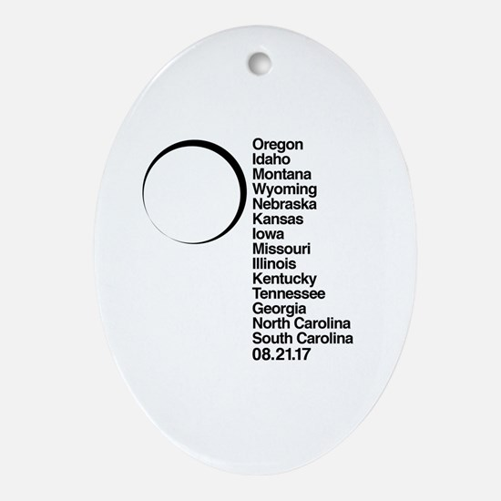 Cool Moon and stars Oval Ornament