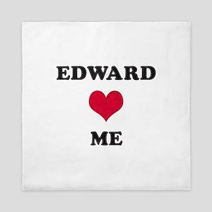 Edward Loves Me Queen Duvet