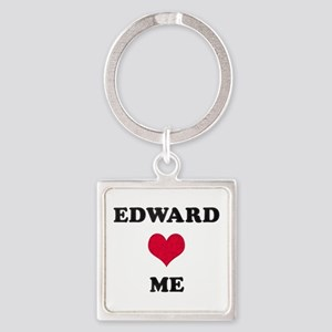 Edward Loves Me Square Keychain