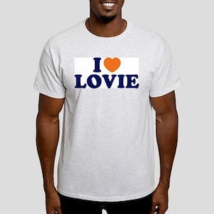 I Heart / Love Lovie Ash Grey T-Shirt
