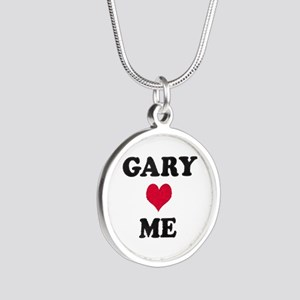 Gary Loves Me Silver Round Necklace