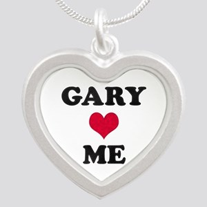 Gary Loves Me Silver Heart Necklace
