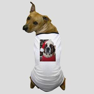 St. Bernard Santa Dog T-Shirt
