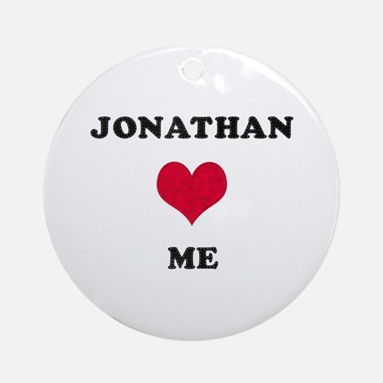Jonathan Loves Me Round Ornament