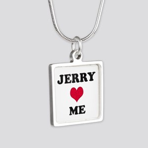 Jerry Loves Me Silver Square Necklace