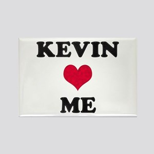 Kevin Loves Me Rectangle Magnet