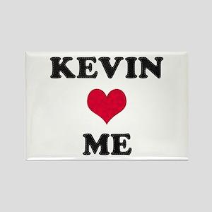 Kevin Loves Me Rectangle Magnet