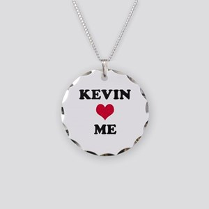 Kevin Loves Me Necklace Circle Charm