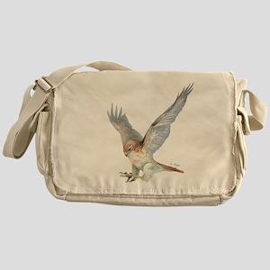 striking Red-tail Hawk Messenger Bag