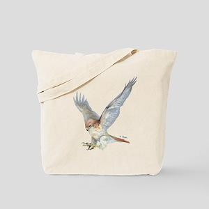 striking Red-tail Hawk Tote Bag