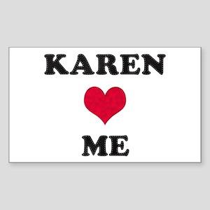 Karen Loves Me Rectangle Sticker