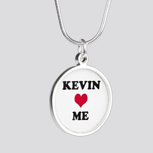 Kevin Loves Me Silver Round Necklace