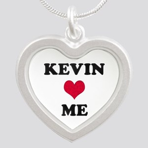 Kevin Loves Me Silver Heart Necklace