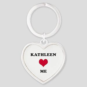 Kathleen Loves Me Heart Keychain