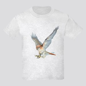 striking Red-tail Hawk Kids Light T-Shirt