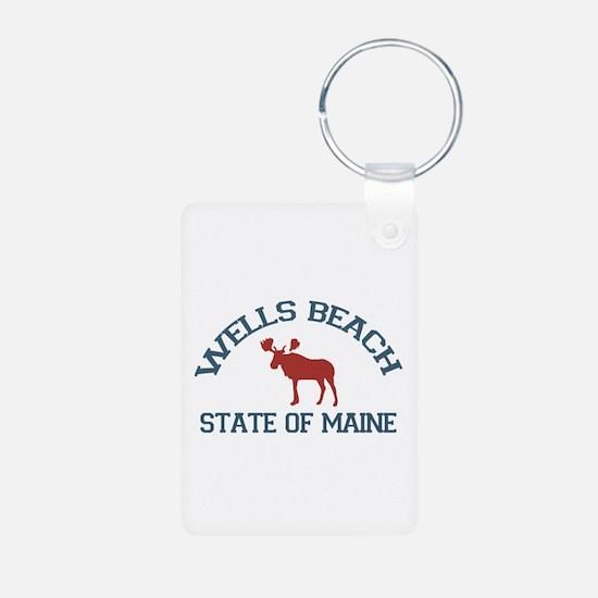Wells Beach ME - Moose Design. Aluminum Photo Keyc