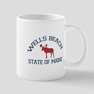 Wells Beach ME - Moose Design. Mug