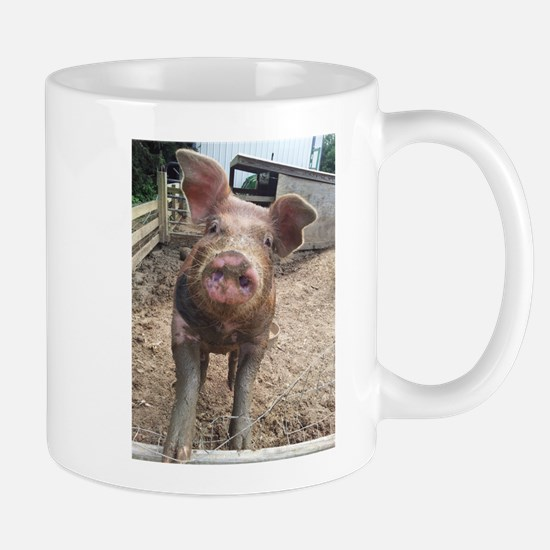 Funny Muddy Red Pig Mug