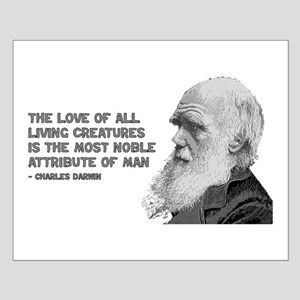 Darwin Portrait - Love of Creatures Small Poster