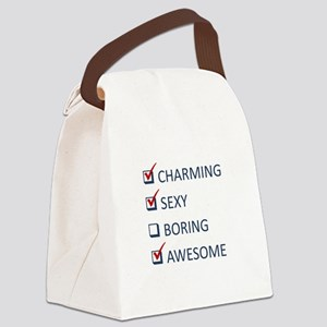 Charming Sexy Awesome Canvas Lunch Bag