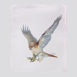 striking Red-tail Hawk Throw Blanket