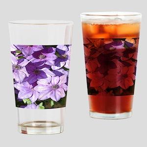 Purple flowers Drinking Glass