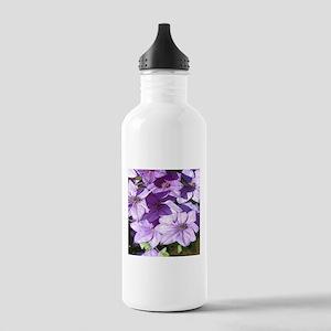 Purple flowers Stainless Water Bottle 1.0L