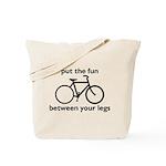 Bike: Fun Between Your Legs Tote Bag