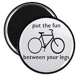 """Bike: Fun Between Your Legs 2.25"""" Magnet (10"""