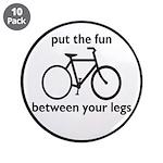 """Bike: Fun Between Your Legs 3.5"""" Button (10 p"""
