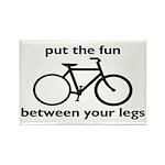 Bike: Fun Between Your Legs Rectangle Magnet (10 p